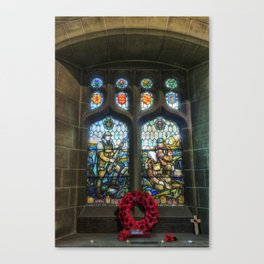 War Memorial Window Canvas Print
