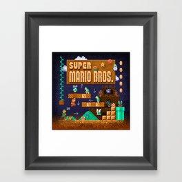 Mario Super Bros Framed Art Print