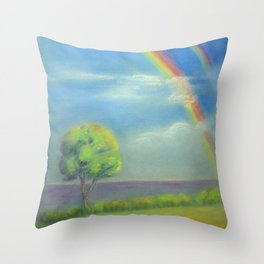 Between Heaven and Earth - painted Throw Pillow