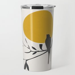 Bird and the Setting Sun Travel Mug