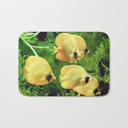 Bluecheek butterflyfish, Chaetodon semilarvatus Bath Mat