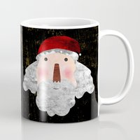 santa Mugs featuring Santa  by Inmyfantasia