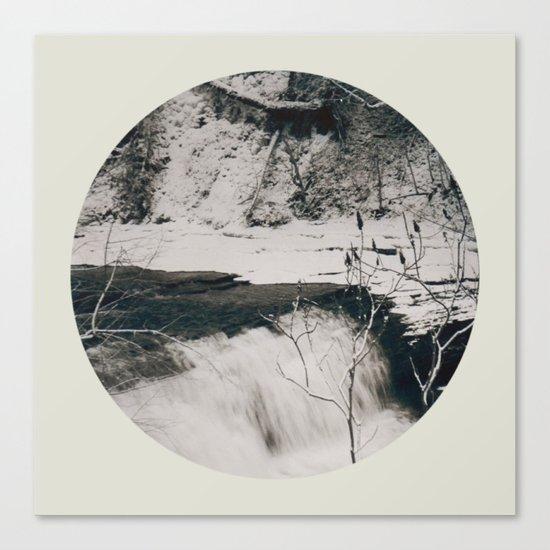 Winter Falls Circular Canvas Print