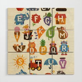 Alphabet Wood Wall Art