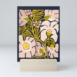 Backyard flower – modern floral illustration Mini Art Print