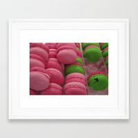 macaroon Framed Art Prints featuring Cracked Macaroon by Gypsy Girl Art