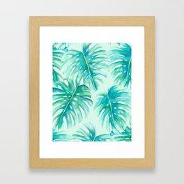 Paradise Palms Mint Framed Art Print