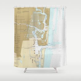 Map of Fort Lauderdale FL (1991) Shower Curtain