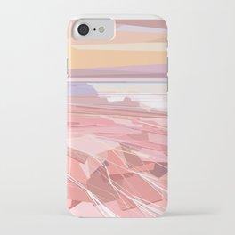 Geometric pink lake and sky, Hutt Lagoon, Western Australia iPhone Case
