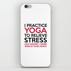 Yoga Pants Funny Quote iPhone & iPod Skin