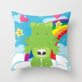 Cthulhu Care Bear Throw Pillow