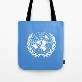 Flag on United nations -Un,World,peace,Unesco,Unicef,human rights,sky,blue,pacific,people,state,onu Tote Bag