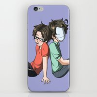 kevin russ iPhone & iPod Skins featuring Cry and Russ by spekterty
