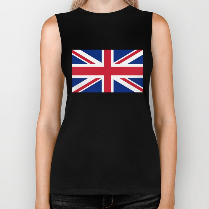 UK FLAG - The Union Jack Authentic color and 3:5 scale  Biker Tank