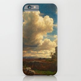 Landscape in Campagna Italy with Gathering Storm by Oswald Achenbach iPhone Case