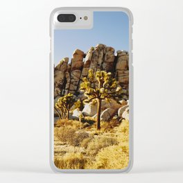 Gold Rush at Joshua Tree National Park Clear iPhone Case