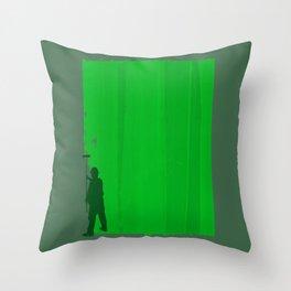 Paint Your Life Green Throw Pillow