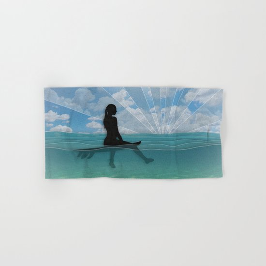 View from a Surfboard Hand & Bath Towel