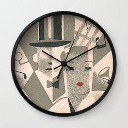Art Deco Glamour Couple Wall Clock