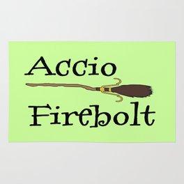 Accio Firebolt! - green Rug