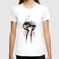 pink floyd T-shirts featuring Nenufar Girl by Ariana Perez