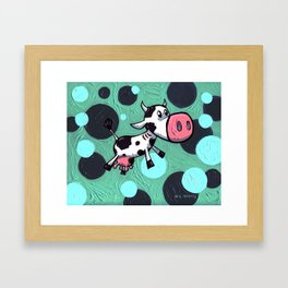 Cow Gill! The cow with gills! Framed Art Print
