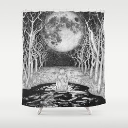The Moonlight Bather Shower Curtain