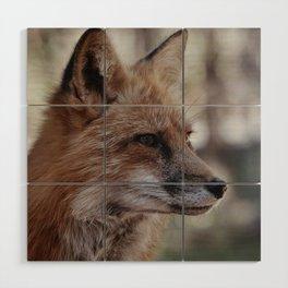 Fox Portrait Wood Wall Art