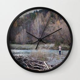 Exploring the Historic Arrowtown During Autumn Wall Clock