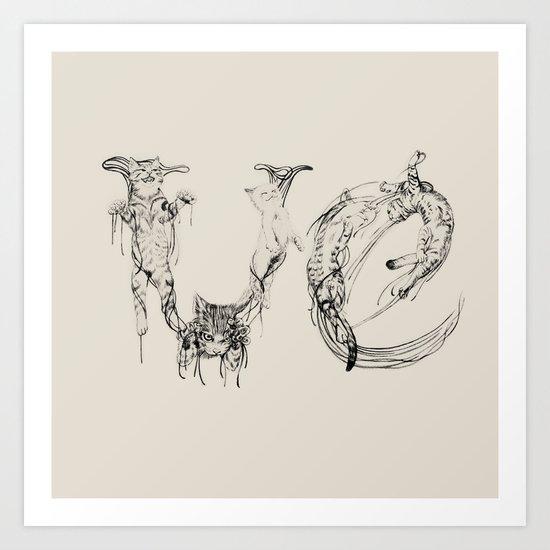 Ve - Meaw Art Print