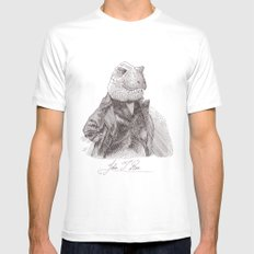John T. Rex Mens Fitted Tee White MEDIUM