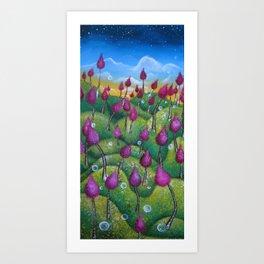 Hills and Hills Art Print