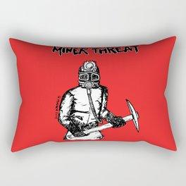 Miner Threat Rectangular Pillow