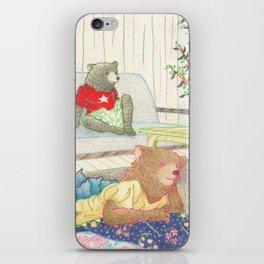 Everyday Animals- Little Bears lounge around iPhone Skin