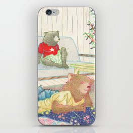 Everyday Animals- Little Bears lounge around iPhone Skin