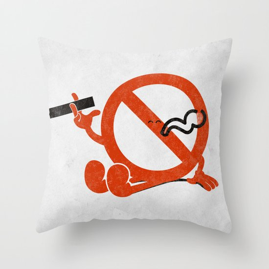 Smoke Break Throw Pillow