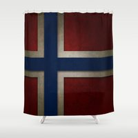 norway Shower Curtains featuring Norway by The Traveller, Wanderlust and Me