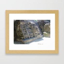 Mask Temple Framed Art Print