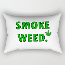 cannabis leaf smoke weed legalization legalize gift Rectangular Pillow