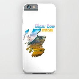 Glen Coe Highland Scotland Hill Yellow Grass Green iPhone Case