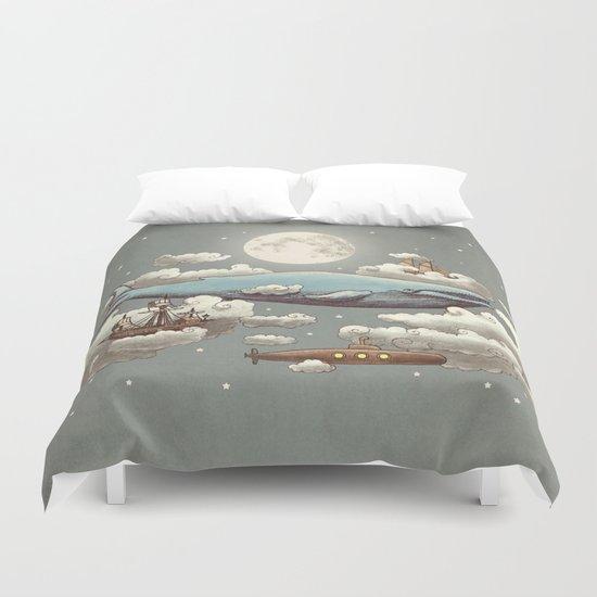 Ocean Meets Sky (original) Duvet Cover
