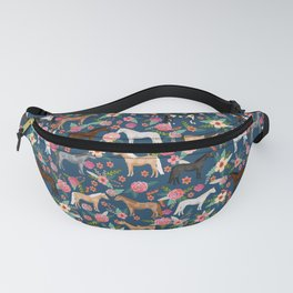 Horse Florals - navy Fanny Pack