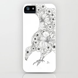 Anemone Lily Vulture iPhone Case