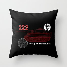 Michael Wittmann Panzer Ace 222 Villers Bocage Black Throw Pillow