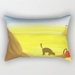 Treasure Hunt on the Beach Rectangular Pillow