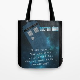 Doctor Who Tardis Quote Tote Bag