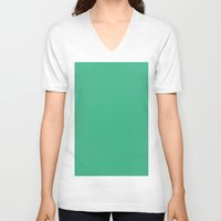 mint V-neck T-shirts featuring Mint by List of colors