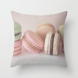 Blush Macarons Throw Pillow