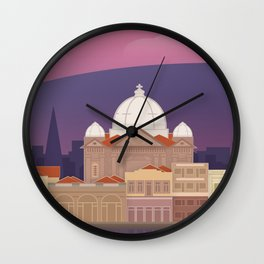 Lesbos, Mytilini Waterfront (GR) Wall Clock