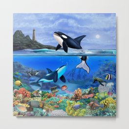 THE ORCA FAMILY Metal Print